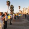 """На узбережжі Середземного моря у Ізраїлі створили """"ланцюг Миру"""""""