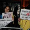Українці в Лондоні зустріли співачку Валерію вигуками «Shame on you»
