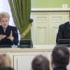 Президент Литви у Києві – говорила українською і закликала творити англомовний уряд