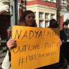 Лондон приєднався до акцій підтримки Савченко і пам'яті Нємцова