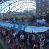 Центром Києва пронесли найбільший у світі кримськотатарський прапор