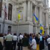 Біля мерії Філадельфії підняли український прапор