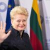 Грибаускайте записала українською привітання із Днем Незалежності