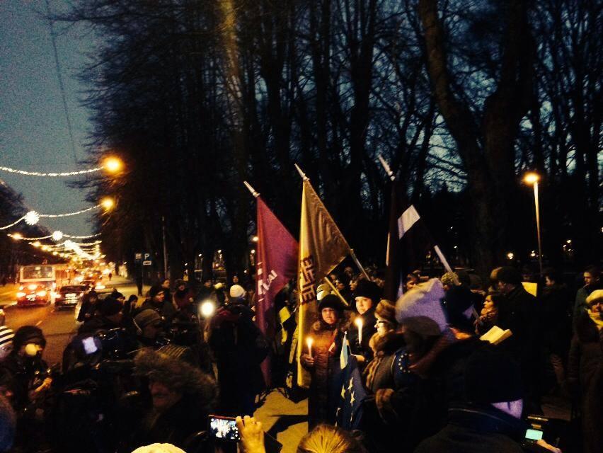 Рига. Фото зі сторінки Euromaidan Latvia у Facebook