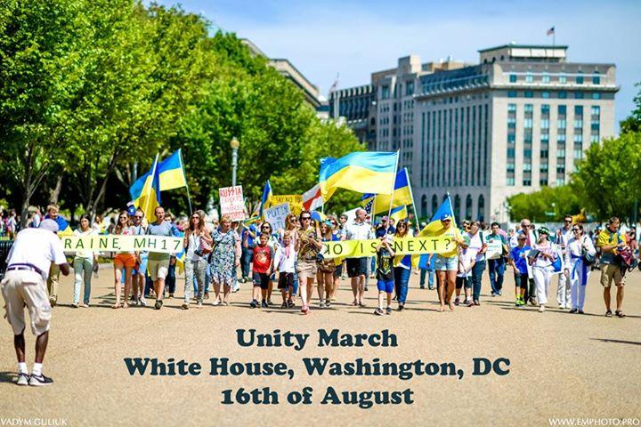Марш Єдності у Вашингтоні. Фото Razom for Ukraine