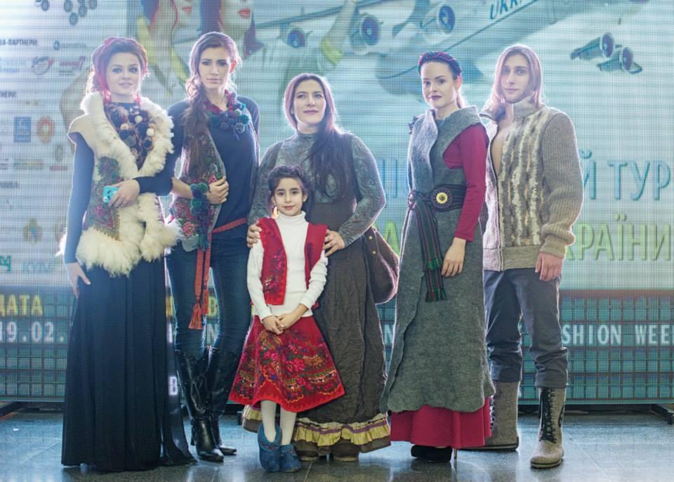 ГУЦУЛЬЩИНА дизайнер одягу Тетяна Вороніна (Донецьк) и дизайнер аксесуарів Мила Квітка (Львов)