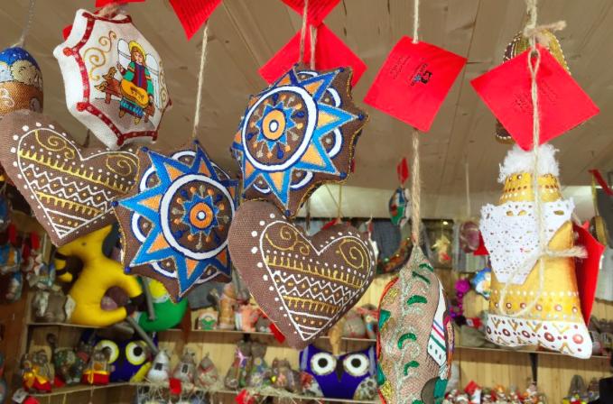 Українські різдвяні іграшки у Відні