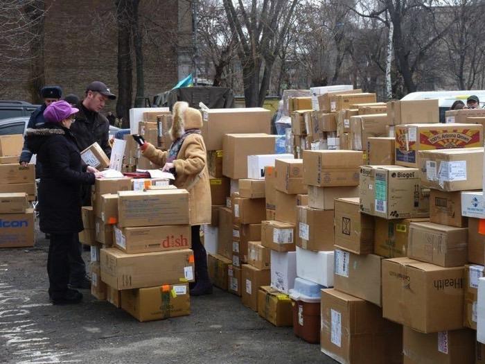 Гуманітарний медичний вантаж з першого контейнера доставлений у  Дніпропетровськ у лютому 2015
