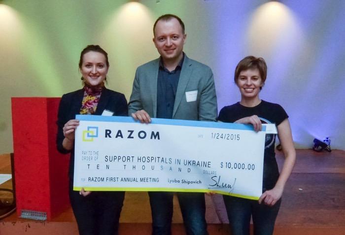 Проект Support Hospitals in Ukraine отримав 10 тис дол.. від РАЗОМ, Нью-Йорк Проект Support Hospitals in Ukraine отримав 10 тис дол. від РАЗОМ, Нью-Йорк